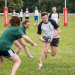Photo of the Bigwave Business Games tag rugby
